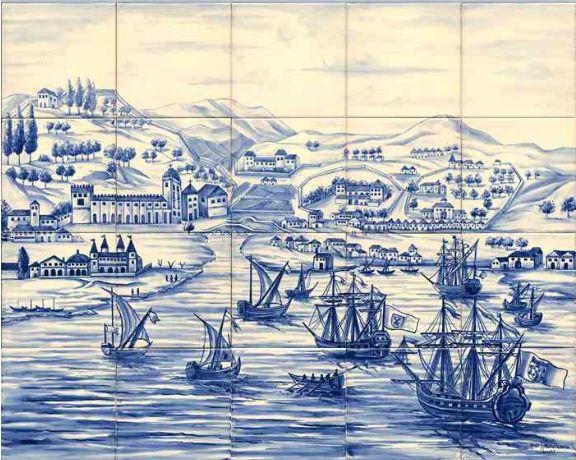 #azulejos #bateau réf: cerb_269_7_1  #mer #carrelage #tile #boat #sea #decoration #bleu #blue