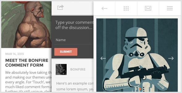 TOUCH - A lighter-than-air WP theme, by Bonfire. - Mobile WordPress