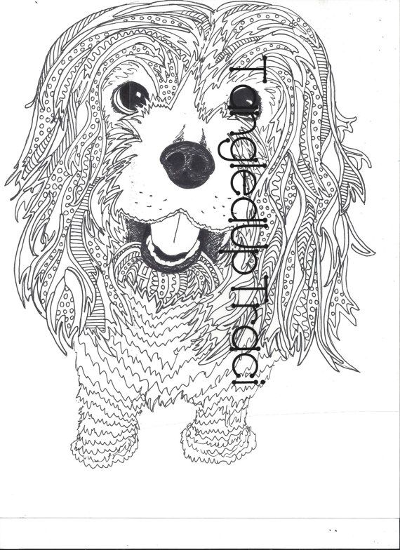 Printable animal zentangle coloring pages for by for Pen coloring pages