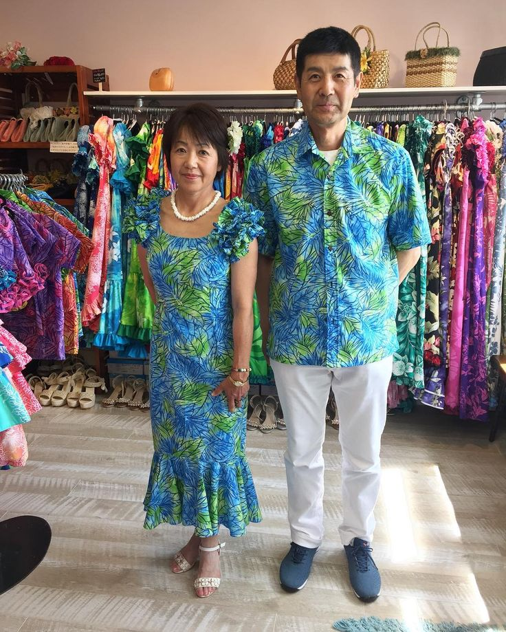 6月ご来店のお客様のご紹介 ハワイの海をイメージしたオリジナルアイテムグリーンとブルーのグラデーションがいいかんじの新作アイテムでばっちりきめていただきました  ご来店ありがとうございました