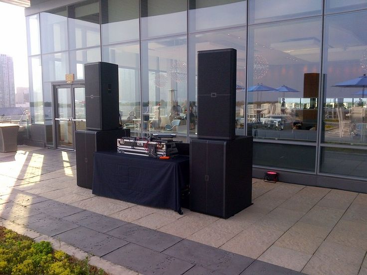 Dj Setup On A Rooftop Patio At The Corus Entertainment