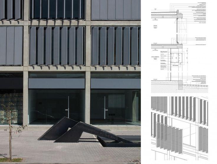 Parasoles verticales metalicos para fachadas buscar con - Cerramientos de fachadas ...