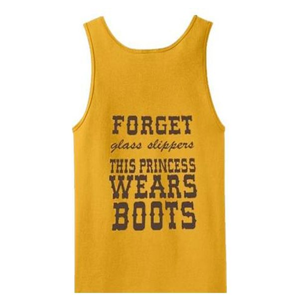 About forget glass slippers this princess wears boots tanktop from teeshope.com This tank top is Made To Order, we print one by one so we can control the quality.