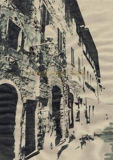ulica w Toskani , Włochy