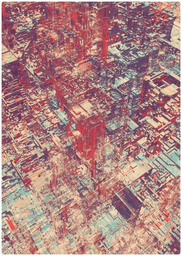 Pixel City II by atelier olschinsky , via Behance