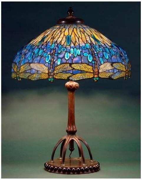 Dragonfly Table Lamp / c. 1900-1906 / Tiffany Studios