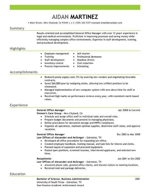 Sample Office Manager Resume Elegant Professional Manager Resume Of 27 Proper Sample Office M Office Manager Resume Manager Resume Job Resume Examples