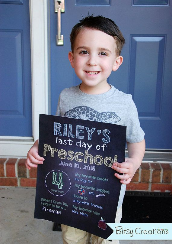 Last Day of School Printable Signs Customized by by BitsyCreations