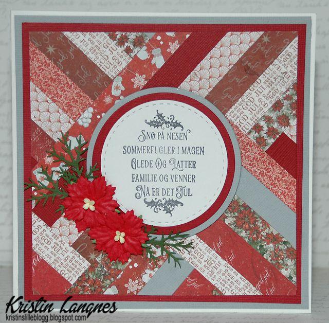 Kristins lille blogg: Julekort med patchwork-teknikk