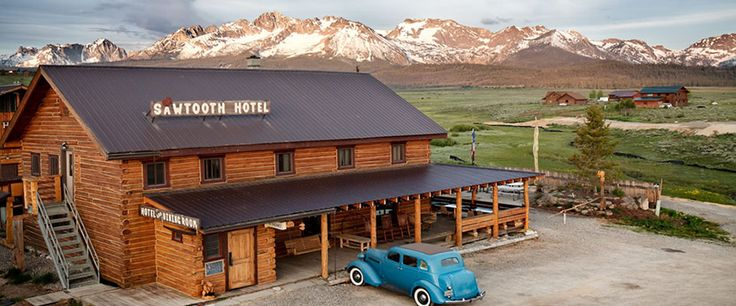 Sawtooth Hotel in Stanley, ID. 60 miles from Sun Valley. Cross country skiiing. $65/night.
