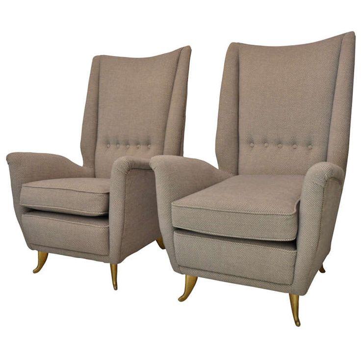 Pair Of Paolo Buffa Lounge Chair 1958