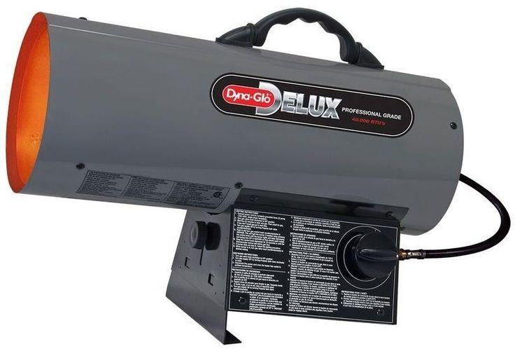 40K BTU Forced Air Propane Portable Heater Dyna-Glo Delux NO TAX #DynaGloDelux