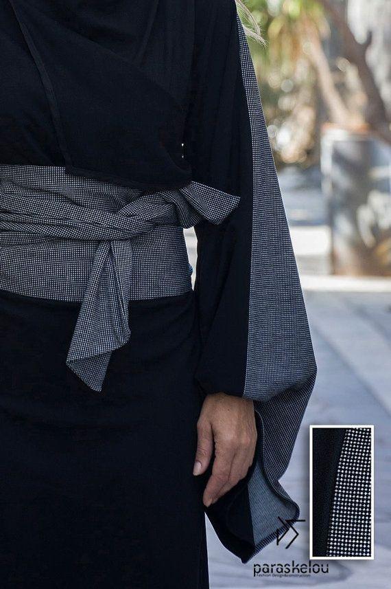 kimono dress collarless side-wrap by paraskeloufashion on Etsy