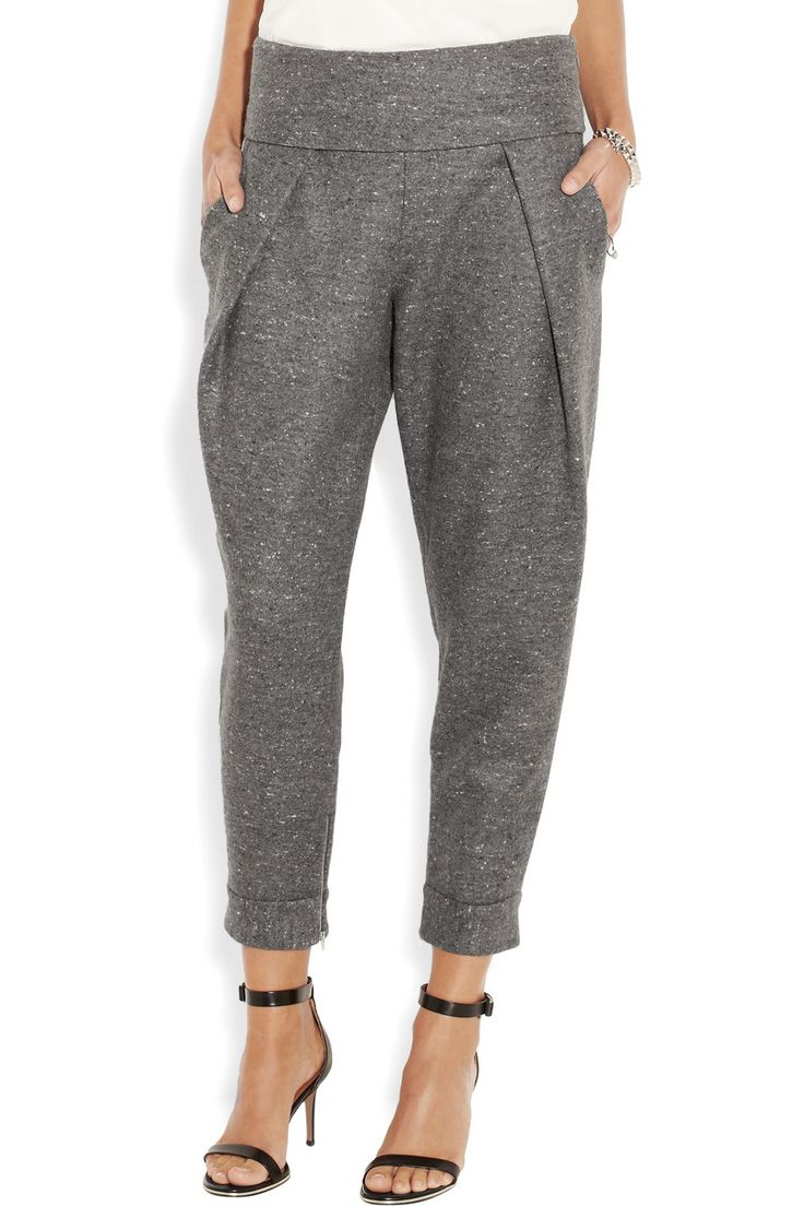 Alexander Wang | Flecked wool and silk-blend tapered pants | NET-A-PORTER.COM