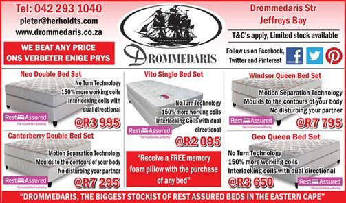 Specials still available on our Rest Assured range from Drommedaris. Are you expecting guests for the Easter Weekend, and found that the old bed is just not that good anymore? Bring in your old base and mattress and we will give you a part trade in on a new one. Contact us for more information. #homeimprovement #homedecor #lifestyle.