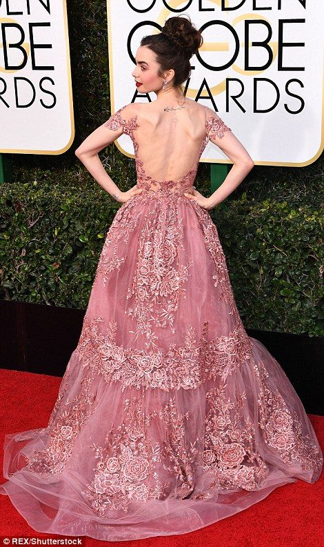 Lily Collins and Felicity Jones among the British talent at the Golden Globe Awards | Daily Mail Online