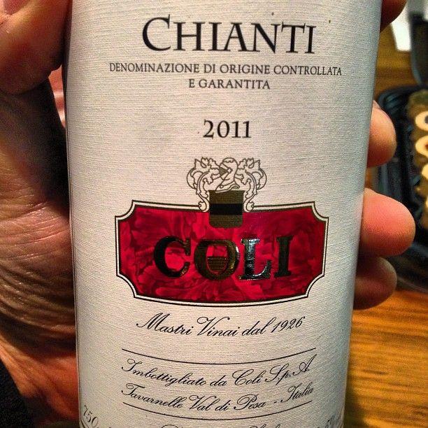 Coli DOCG 2011, Sangiovese, Canaiolo e Malvasia del Chianti