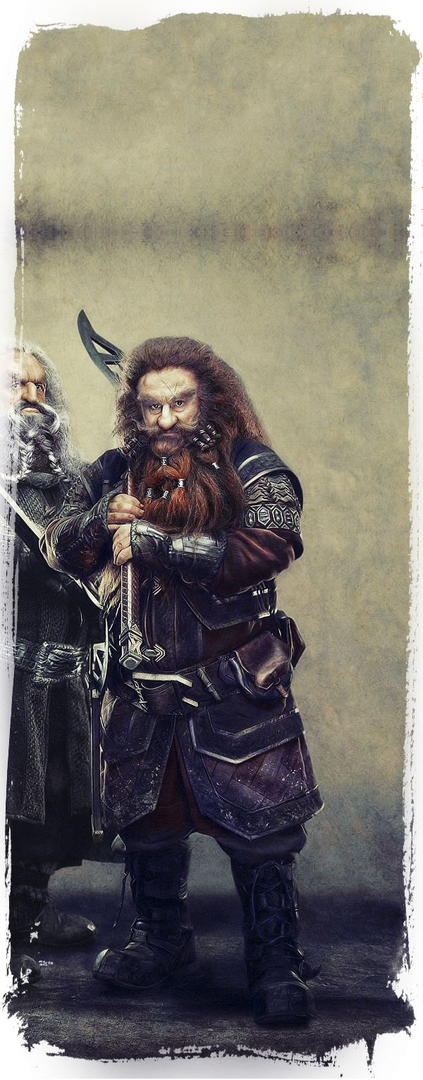 Gloin ~ The Dwarves Of The Hobbit by Gianfranco Gallo, via Behance