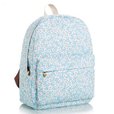 Sky blue spring backpack