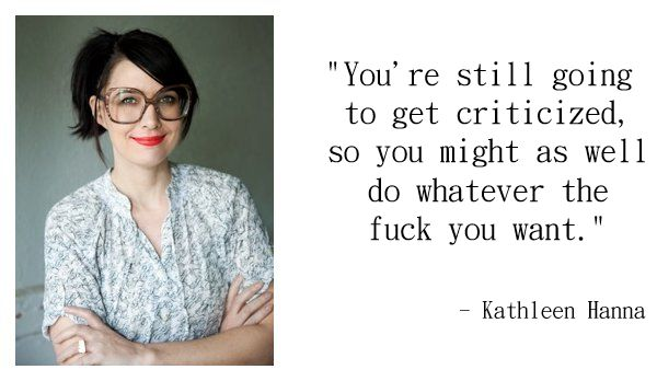 """""""Riot Grrrl: Then & Now"""" Lecture from Kathleen Hanna — Tiffany Scandal"""