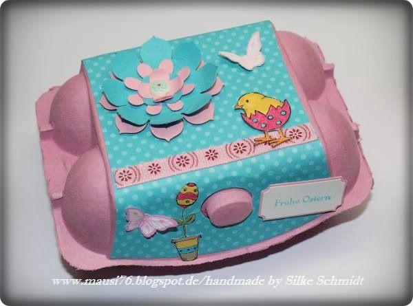 ♥ Mausi's Bastelwerkstatt ♥: Frohe Ostern im Eierkarton