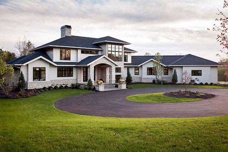 65 Stunning Modern Dream House Exterior Design Ideas (57