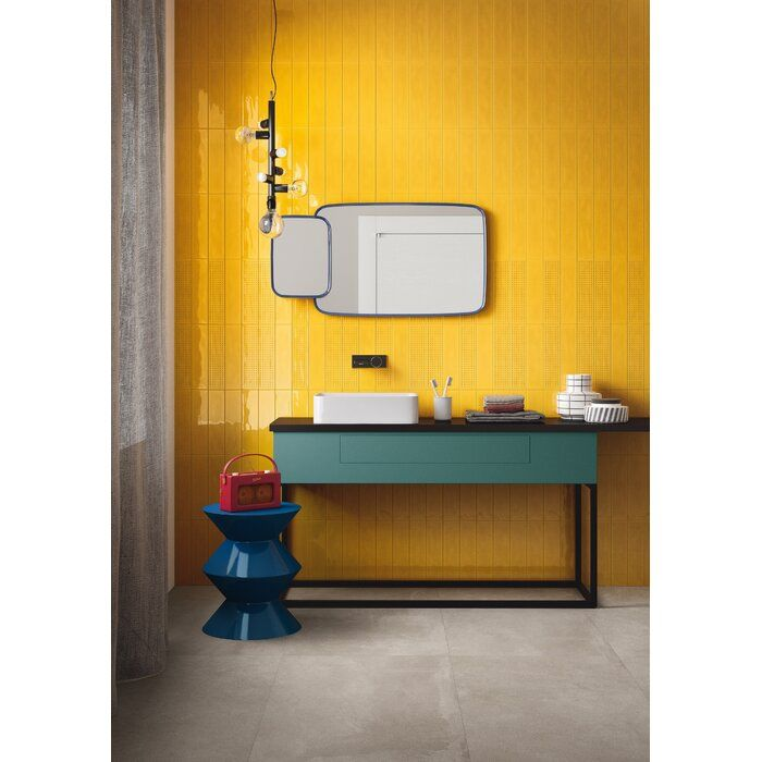 Slash 3 X 12 Ceramic Subway Tile Tiles For Sale Yellow Tile Yellow Bathroom Tiles