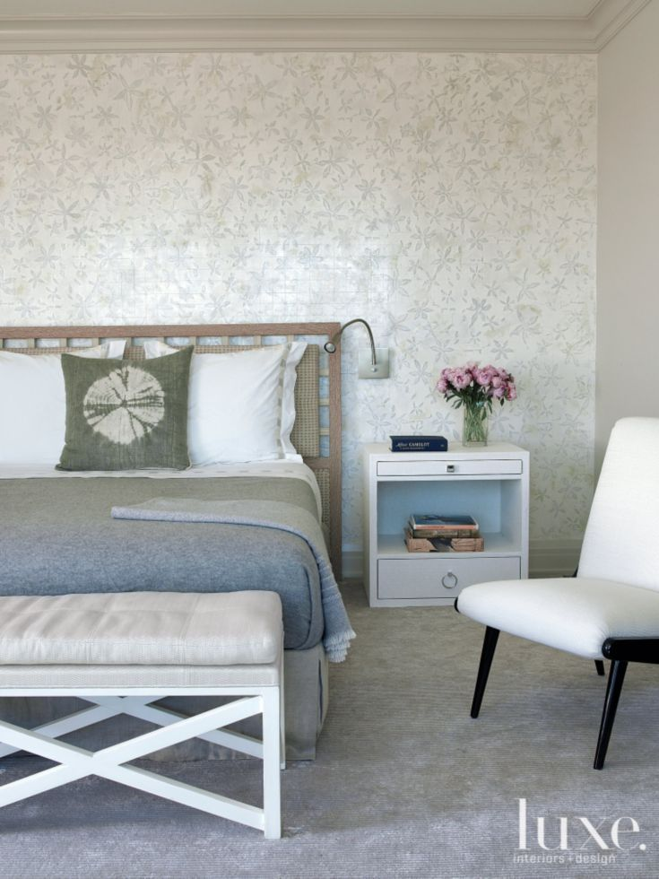 contemporary benches for bedroom contemporary gray master bedroom with floral backdrop 14958