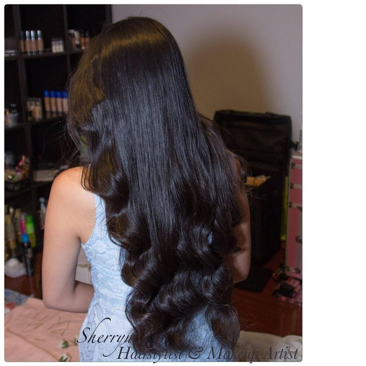 Wavy hair, asian hair