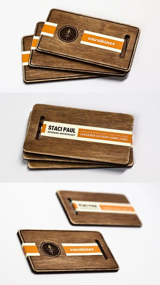 Laser Cut Hand Stained And Finished Wooden Business Cards