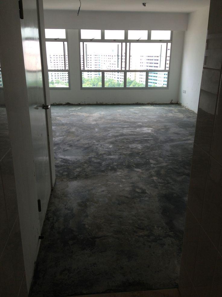 Concrete Flooring Screeding My Bto Hdb Home