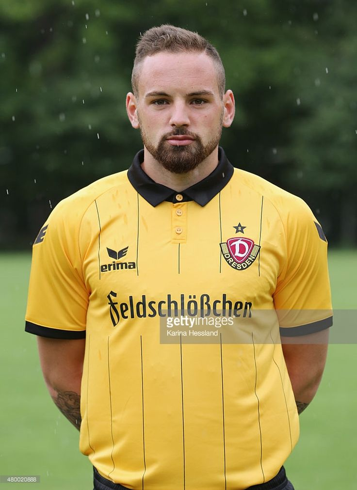 Giuliano Modica poses during the official team presentation of Dynamo Dresden at the Gluecksgas-Stadion on July 9, 2015 in Dresden, Germany. on July 9, 2015 in Dresden, Germany.