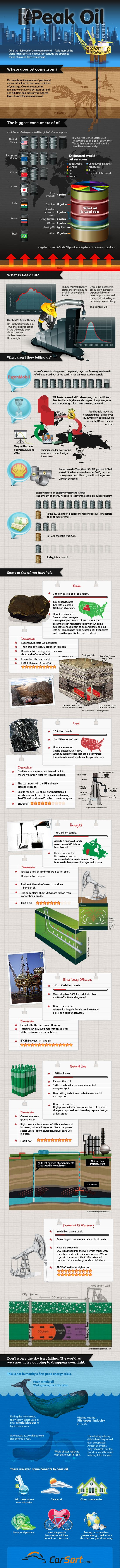 Infographic on Peak Oil - Who Uses How Much, and Where We Go From Here