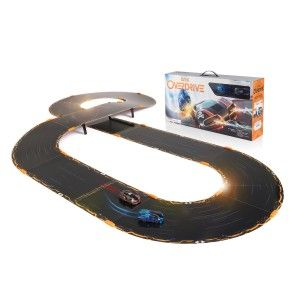 Anki OVERDRIVE Starter Kit Cars run for about 20 to 25 minutes then need a charge. Charging time is about 8 minutes or less. The starter kit comes with a four car charger. During the race, you always know your position as it is written 1st, 2nd…