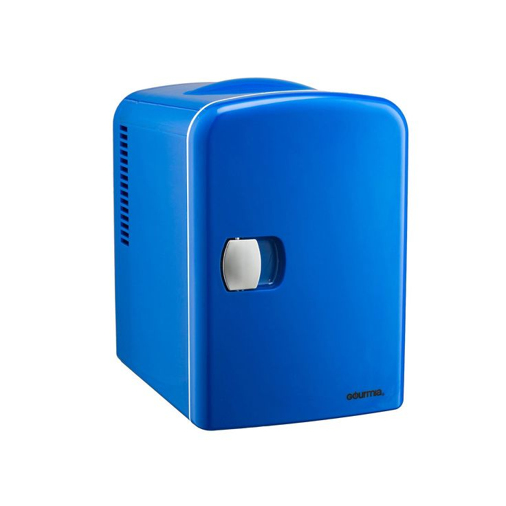 Gourmia Portable 6-Can Mini Fridge, Blue