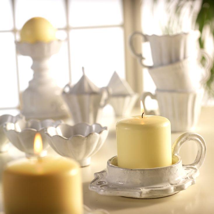 VBC casa ceramics candleholders, handmade Presenting by Tatjana Kern http://www.bytatjana.com/c11/Candleholder