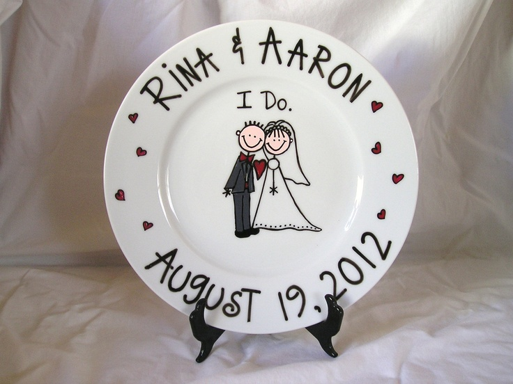 wedding plate | Painted Wedding Plate by neatstuf on Etsy