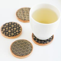 DIY: asian teacup coasters