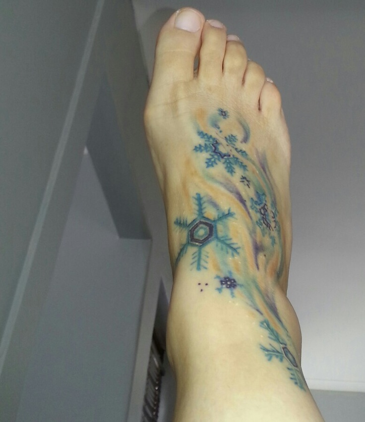 snowflakes tattoo