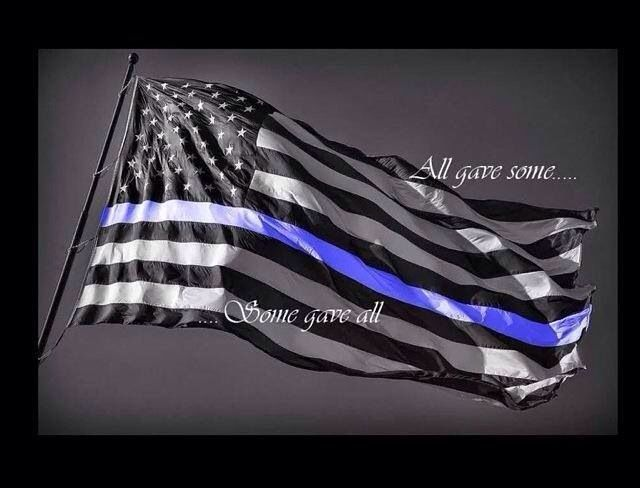 law enforcement american flag - photo #13