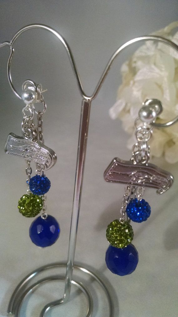 I will wear these when the Seahawks win the Super Bowl!  No: ESH16 by BeadsMode on Etsy