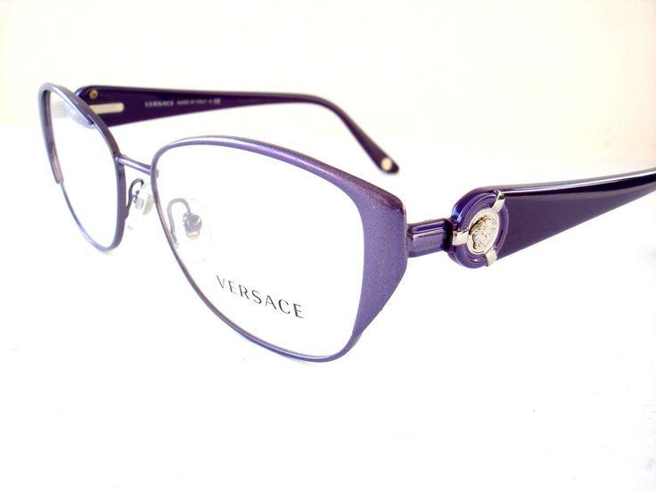 Versace Eyeglasses 1196 Purple 1317 Authentic New 53-15-135 #Versace