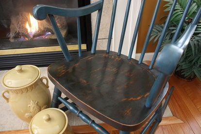 repainted old rocking chair, chalk paint, painted furniture