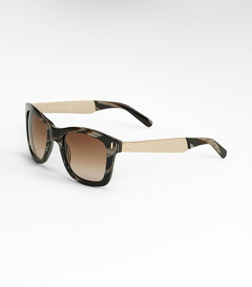 Tory Burch Square Sunglasses. Available at Monkee's of Morrocroft, 704-442-7337.