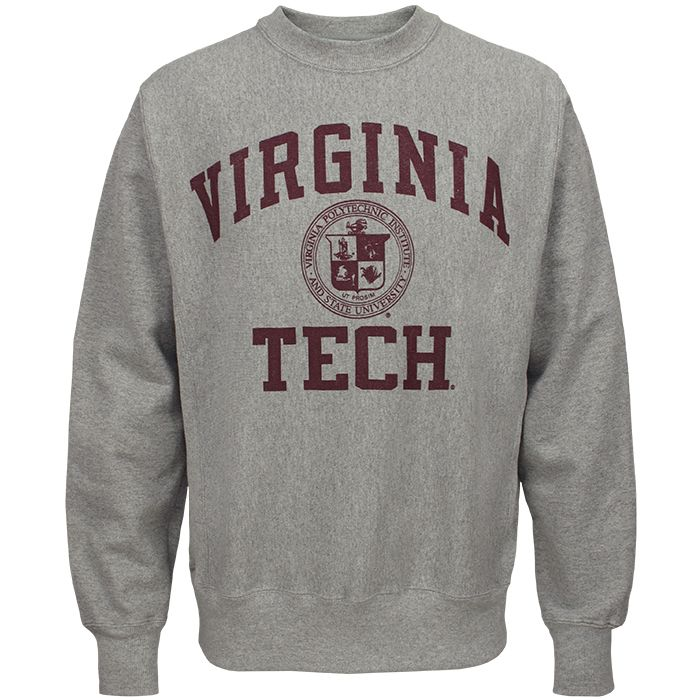 Virginia Tech Reverse Weave Crew Sweatshirt Large
