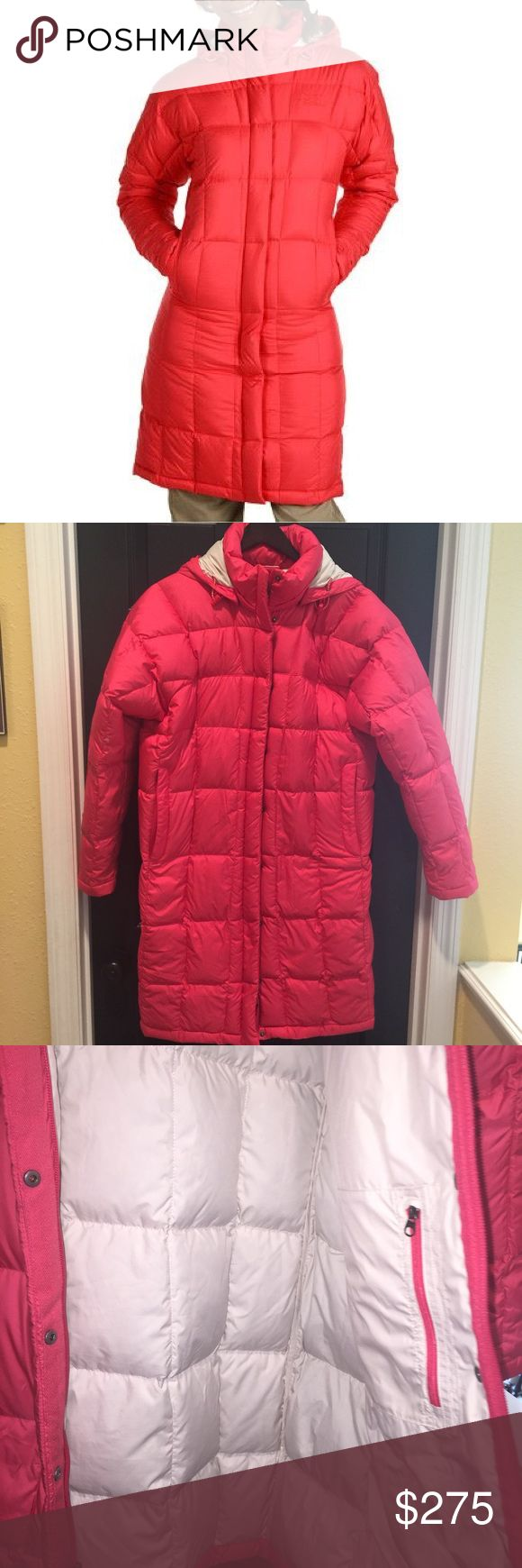 North face Metropolis Parka Teaberry L I only wore this coat once. Perfect condition! Hard to find in this color. No trades please. North Face Jackets & Coats Puffers