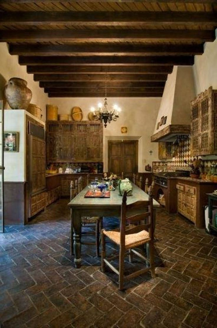 Spanish Old World Kitchen Decor Design