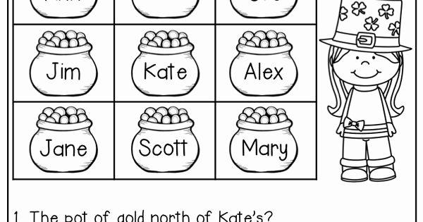 Spookytown Map Worksheet Map Skills Worksheets Map Skills First Grade Worksheets