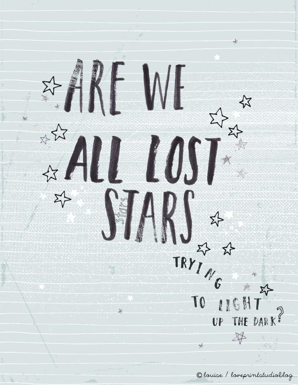 Lost Stars lyrics