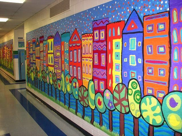 Bri-coco de Lolo: Idée pour un décor de mur d'école
